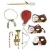 Kép 2/2 - GREMLINS Szörnyecskék Ultimate mozgatható fülekkel,szemekkel,4db cserélhető arcokkal,mikulás sapka,trombita stb, gyűjtői Gizmo figura 12 cm