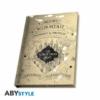 """Kép 4/4 - HARRY POTTER ajándékkészlet üvegpohár 400 ml + kitűző + zsebnotesz """"Marauder's map"""" csomag"""