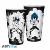 Kép 1/2 - DragonBall Super Goku/Vegeta díszítésű üvegpohár 400 ml