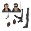 Kép 2/2 - Terminator Ultimate Police Station Assault T-800 (motoros dzsekis) mozgatható gyűjtői figura 3db cserélhető fejjel,2 pár kezekkel,SPAS-12 shotgunnal,AR-18 revolverrel,Smith&Vesson Model 15 kézilőfegyverrel 18 cm