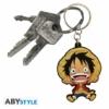 Kép 2/3 - ONE PIECE Monkey D Luffy PVC kulcstartó