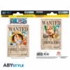 Kép 1/3 - ONE PIECE Wanted Luffy Zoro matrica csomag