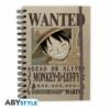 Kép 1/4 - ONE PIECE Luffy Wanted spirálfüzet notesz