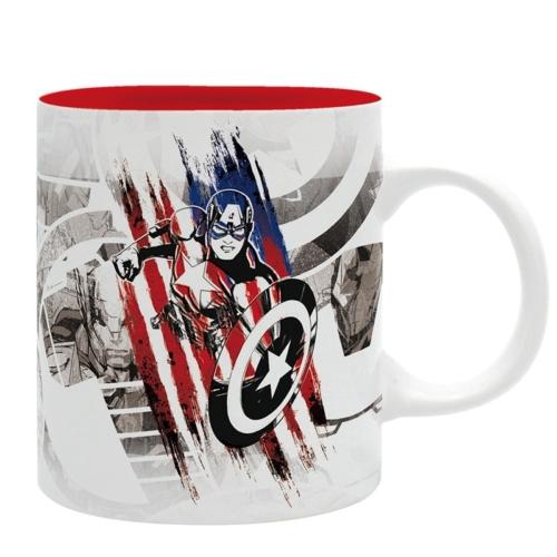 MARVEL Captain America Design Amerika kapitány bögre 320 ml
