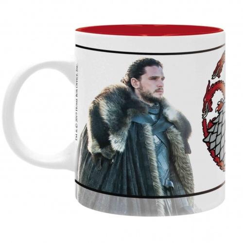 Game of Thrones Jon Snow & Daenerys Trónok harca bögre 320 ml