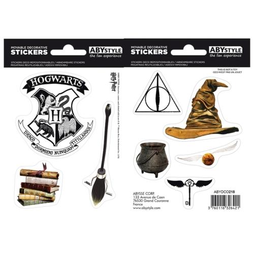 Harry Potter varázstárgyak matrica csomag 16cm x 11 cm.