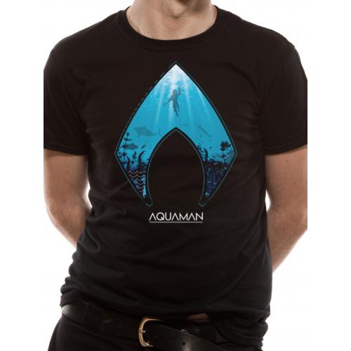 DC AQUAMAN - Logo and symbol póló