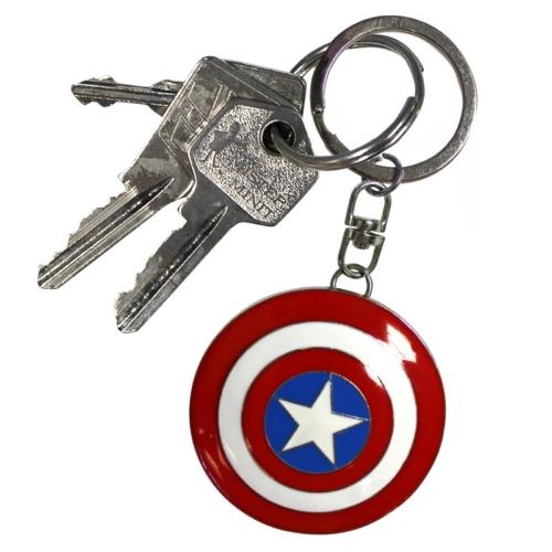 Marvel Captain America Shield - Amerika kapitány pajzs 3D fém kulcstartó