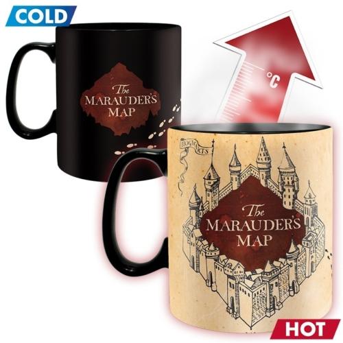 Harry Potter The Marauders Map A Tekergők Térképe hőre változó bögre 460 ml
