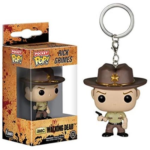 Pocket POP! The Walking Dead Rick Grimes figura kulcstartó 4 cm