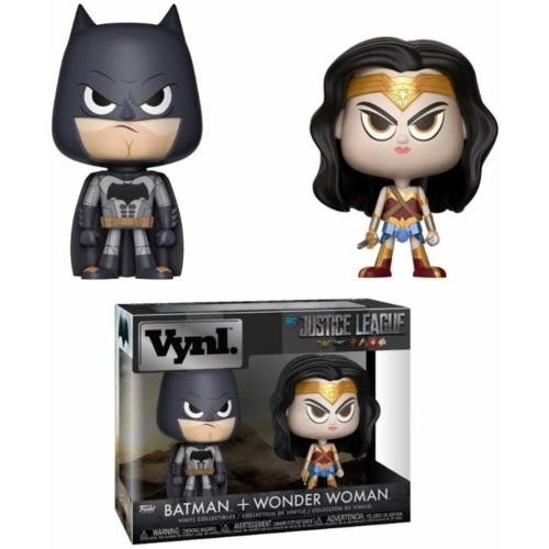 FUNKO Vynl DC Justice League Az Igazság Ligája Batman+Wonder Woman dupla  figura szett 13 cm