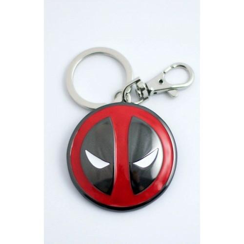 Deadpool logo fém kulcstartó