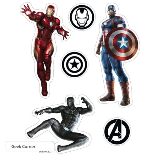 Marvel Avengers ( Bosszúállók ) matrica csomag 16cm x 11 cm.