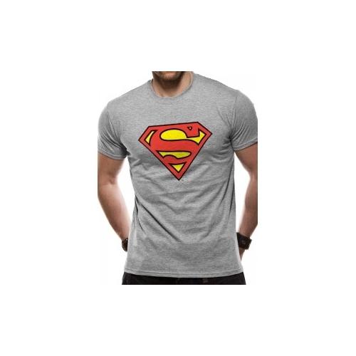 Superman logo szürke póló