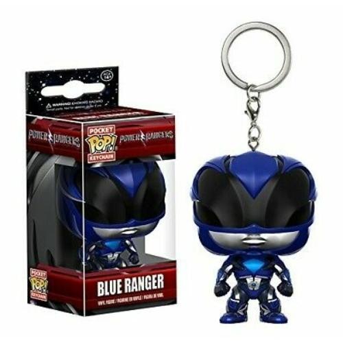 POP! Funko Power Rangers mini pop figura kulcstartó Blue Ranger 4 cm