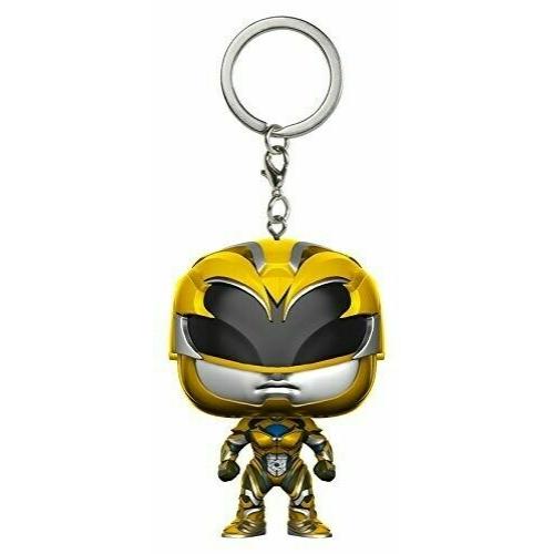 PoP! Funko Power Rangers mini pop figura kulcstartó Yellow Ranger 4 cm