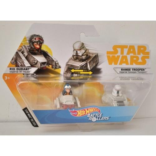 Hot Wheels Star Wars - Csillagok háborúja Battle Rollers mini járművek Rio Durant vs Range Trooper