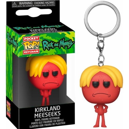 Rick and Morty Kirkland Meeseeks Pocket POP kulcstartó figura 4 cm