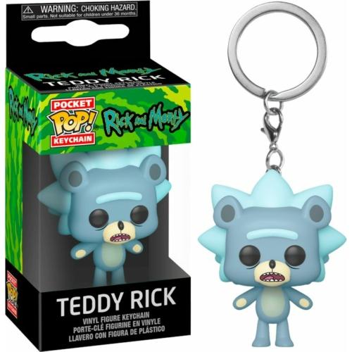 Rick and Morty Teddy Rick Pocket POP kulcstartó figura