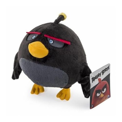 Angry Birds plüssfigura Fekete Bomba 16 cm