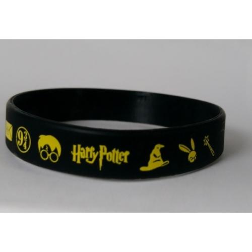 Harry Potter szilikon karkötő fekete