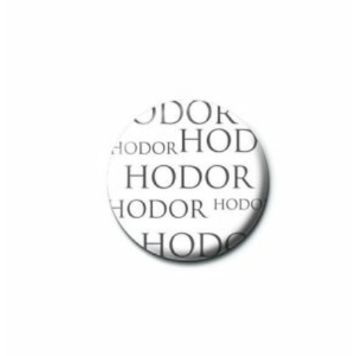 Game of Thrones - Trónok harca Hodor kitűző 2 cm átmérő