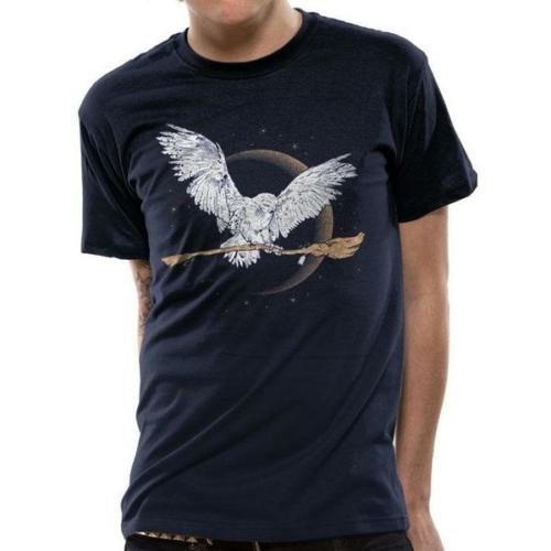 HARRY POTTER Hedwig Broom póló S