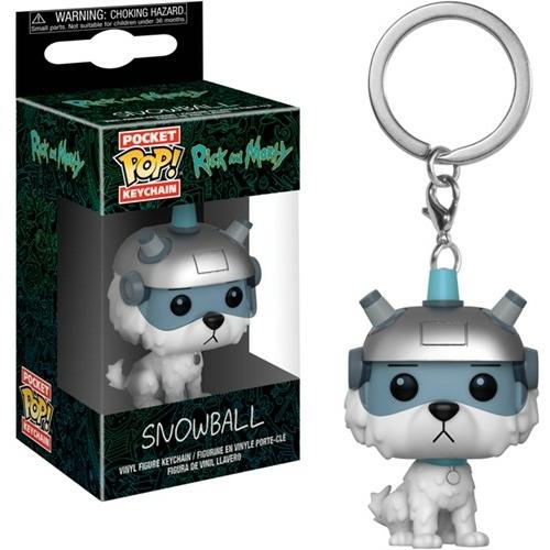 Rick and Morty - Snowball POP figura kulcstartó