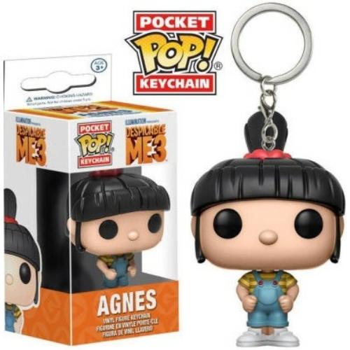 PoP! GRU 3 Agnes POP figurás kulcstartó 4 cm