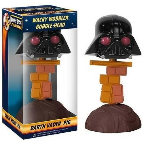 STAR WARS Funko Csillagok Háborúja Darth Vader Angry Birds Pig Wacky Wobbler bólogató figura 15 cm