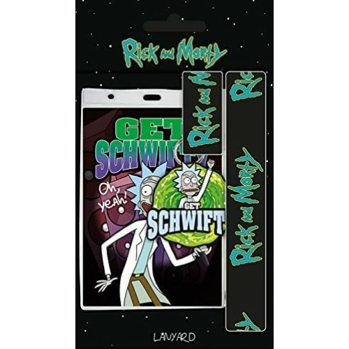 RICK & MORTY Get Schwifty kártyatartó nyakpánttal