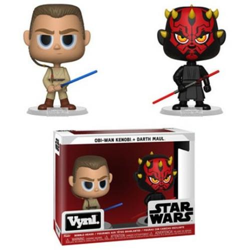 Star Wars - Csillagok Háborúja Obi-Wan Kenobi + Darth Maul FUNKO Vynl figura 13 cm