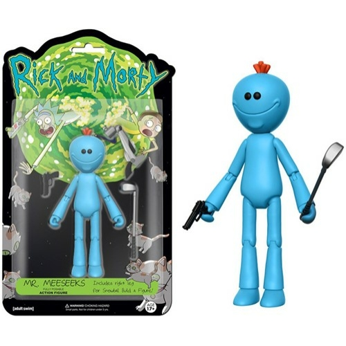 FUNKO Rick and Morty - Mr. Meeseeks Mr.Csicska mozgatható akciófigura 15 cm