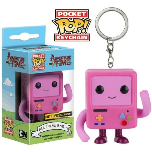 Adventure Time Pink BMO POP figurás kulcstartó 4 cm