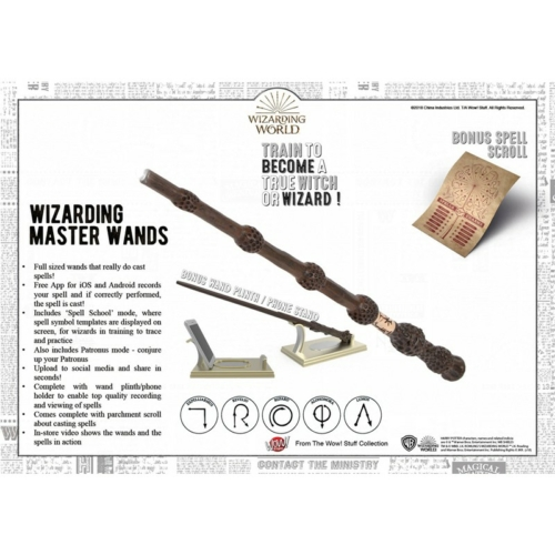 Harry Potter Wizarding Master's exkluzív fényfestő varázspálca készlet varázsigékkel