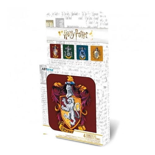 Harry Potter Houses 4db-os poháralátét szett