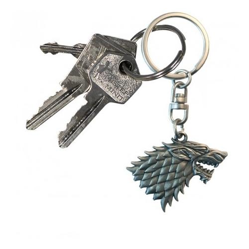 Game of Thrones Trónok Harca Stark logo 3D fém kulcstartó