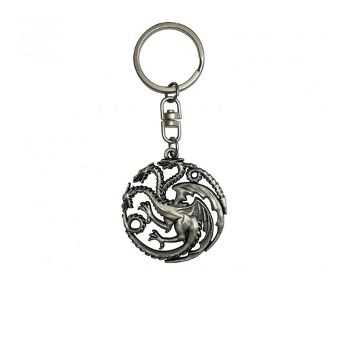 Game of Thrones - Trónok Harca Targaryen logo 3D fém kulcstartó