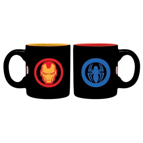 MARVEL Iron Man Spiderman Vasember és Pókember kávés bögre csomag 110 ml