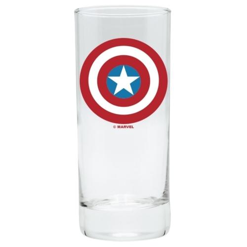 Captain America Amerika Kapitány pajzsos üvegpohár 290 ml