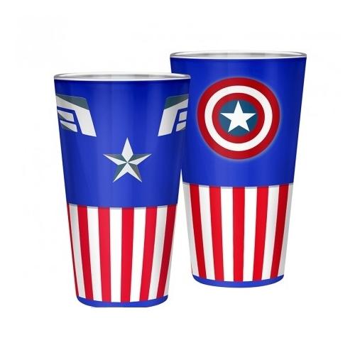 MARVEL Captain America Amerika Kapitány classic prémium üvegpohár 400 ml