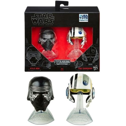 Star Wars - Csillagok Háborúja - Kylo Ren & Poe Dameron helmet collection fém sisak kollekció figura 6 cm