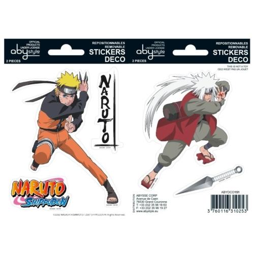 Naruto Shippuden Naruto és Jiraiya matrica csomag 16cm x 11 cm.