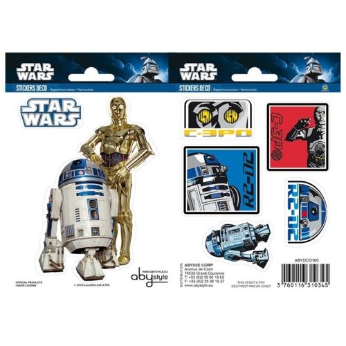 Star Wars R2-D2 és C3PO matrica csomag 16cm x 11 cm.