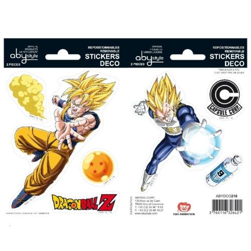 Dragon Ball Goku és Vegeta matrica csomag 16cm x 11 cm.