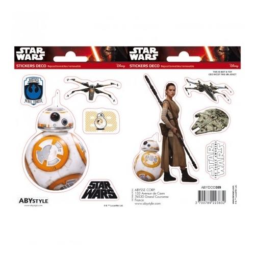 Star Wars BB8 és Rey matrica csomag 16cm x 11 cm.
