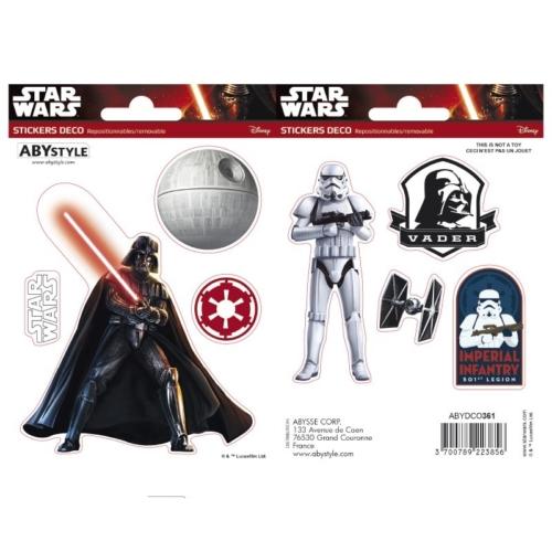 Star Wars Vader és Trooper matrica csomag 16cm x 11 cm.