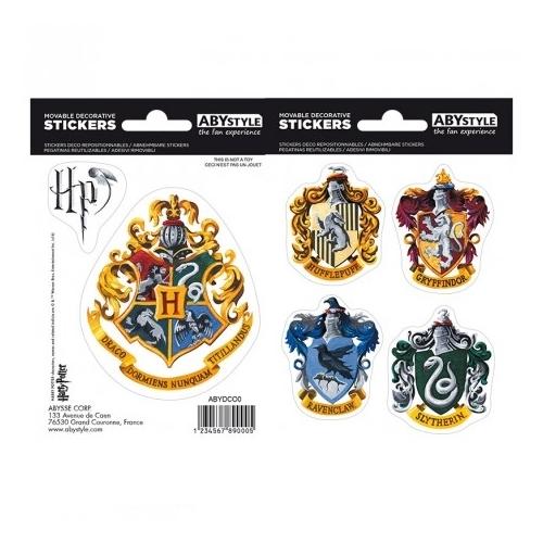 Harry Potter Hogwarts houses matrica csomag 16cm x 11 cm.