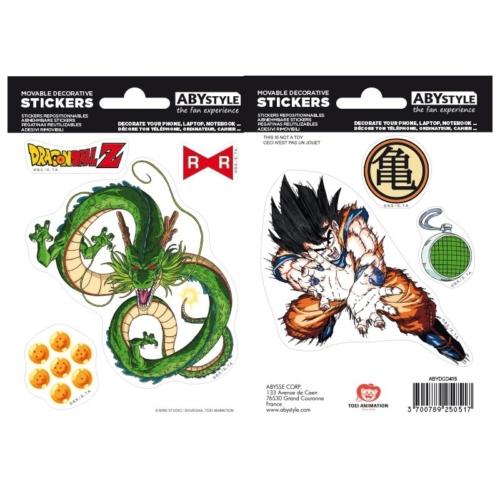 DRAGON BALL Goku és Shenron matrica csomag 16cm x 11cm.