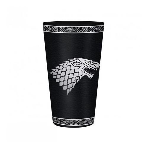 Game of Thrones - Trónok Harca - Stark foil premium üvegpohár